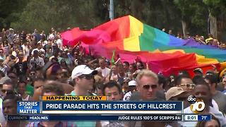 San Diego Pride Parade hits the street of Hillcrest - Video