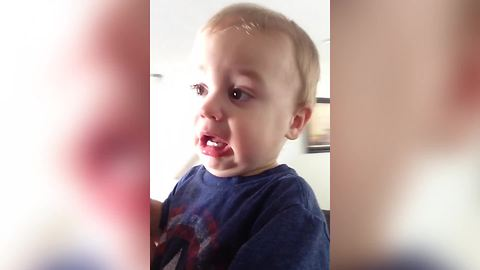 Tot Boy Cries Because Mom Won't Let Him Color Before Tidying Up