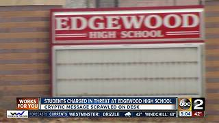 Students charged in threat at Edgewood High School