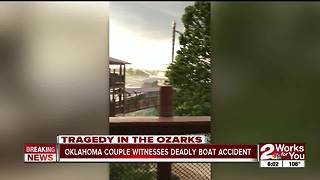 Oklahoma couple witnesses deadly boat accident 6p - Video
