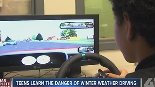 Teens learn the danger of winter weather driving - Video