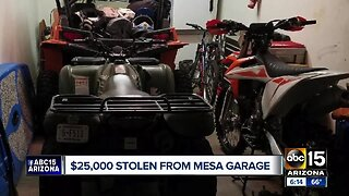 $25,000 worth of items stolen from Mesa garage