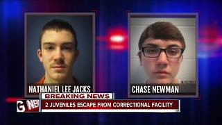 Two juveniles escape from correctional facility