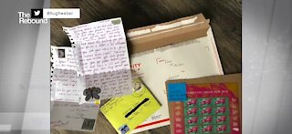 Young girl releasing picture book after gratitude for postal workers goes viral