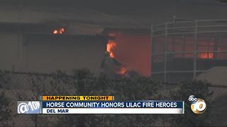 Horse community honors Lilac Fire heroes