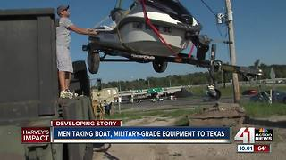 Men taking boat, military-grade equipment to texas - Video