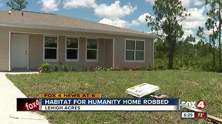 Habitat for Humanity home robbed