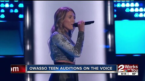 "Owasso teen auditions on ""The Voice"""