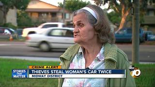 Thieves steal woman's car, twice - Video