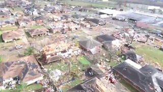 Drone Footage Shows Extensive Tornado Damage in New Orleans
