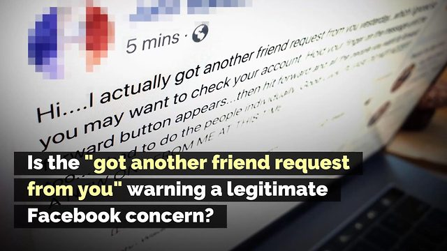 'Got Another Friend Request from You' Facebook Warning