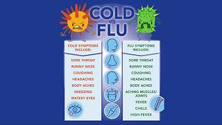 Flu symptoms versus cold symptoms