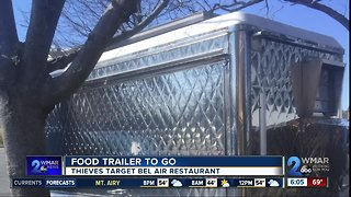 Food Trailer To Go, Thieves Run Off With Food Truck