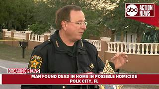 Homicide investigation underway in Polk City after man is found dead in home - Video
