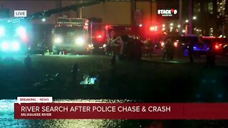 Two in custody following police chase, crash along Milwaukee River
