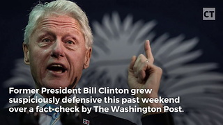 Bill Clinton Gets Oddly Defensive Over Haiti Accusation - Video