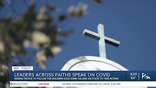 Leaders across faiths speak on COVID-19