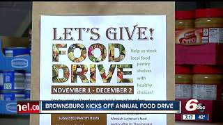 Annual food drive in Brownsburg feeds families in need - Video
