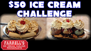 $50 Ice Cream Challenge VS FreakEating  - Video