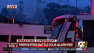 Firefighters battle four-alarm fire in Walnut Hills - Video