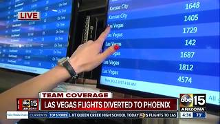 Las Vegas flights diverted to Phoenix amid mass shooting - Video