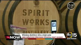 Music played to help create better whiskey - Video