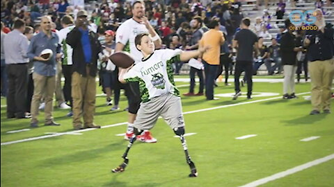 Double Amputee Football Star - The Calder Hodge Story