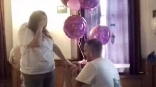 Gender reveal turns into marriage proposal