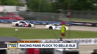 Racing fans flock to Belle Isle for free prix day - Video