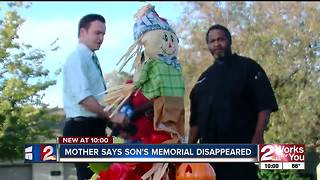 Mother says 7-year-old's memorial was removed