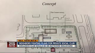 Neighbors fighting plans for private social club on Bayshore Blvd. - Video