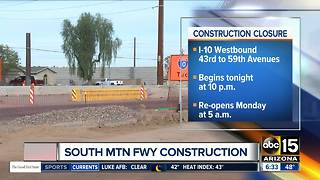 I-10 WB closures set for new South Mountain Freeway work - Video