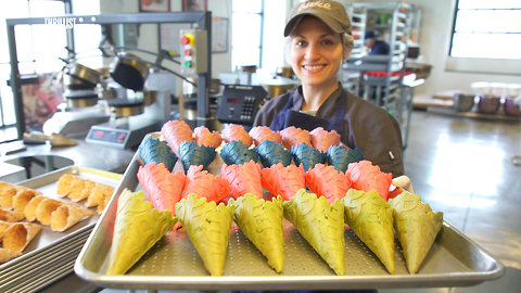 This Factory Makes 7,000 Gourmet Waffle Cones a Day