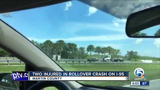 Two injured in rollover crash on I-95 - Video
