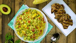 Vietnamese-Marinated Grilled Chicken with Corn & Avocado Salad - Video