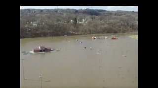 Aerial Footage Shows Extent of Missouri River Flooding Near Omaha