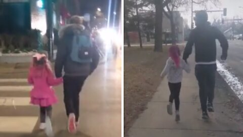 Mom documents dad & daughter skipping moments for 4 years