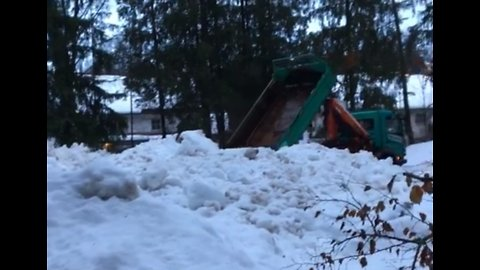 Snow Piled in Public Park as Winter Storms Hit Bavaria