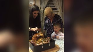 Turkey Dinner Freak Out - Video