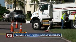 Thousands without power as freeze warnings impact Tampa Bay - Video