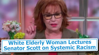 White Elderly Woman Lectures Senator Scott on Systemic Racism