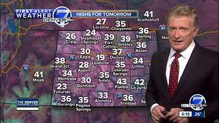 Light snow possible on Thursday for the plains - Video