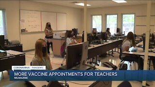 More vaccine appointments for teachers
