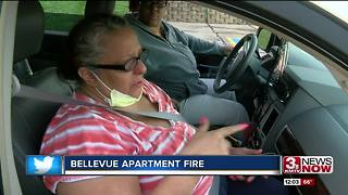 Bellevue apartment fire leaves families homeless - Video