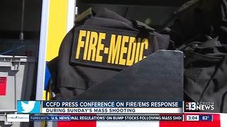 Clark County Fire Department talks about response to mass shooting - Video