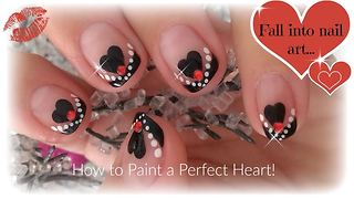Nail art: How to paint a perfect heart for Valentine's Day - Video