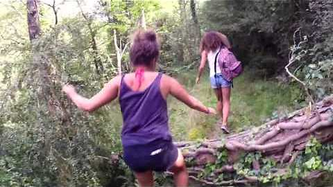 French girl has funny tumble!