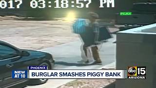 Phoenix burglar steals child's piggy bank, baptism necklace in break-in - Video