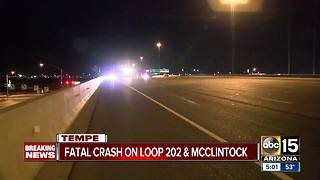 Wrong-way driver killed in Tempe crash - Video