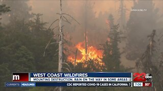 West Coast Wildfires: Mounting destruction, rain on the way in some areas